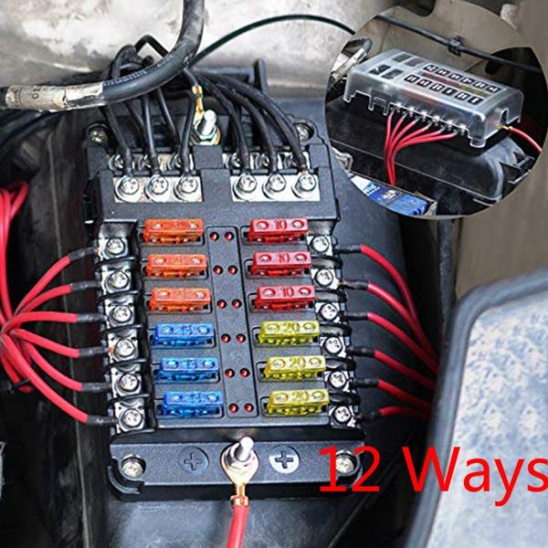 [DIAGRAM_5LK]  With Negative Multi-channel and LED Indicator Alarm Car Fuse Box Screw Type  Fuse Holder Marine Auto Parts Car Fuse Box | Wish | Screw In Fuse Box |  | Wish