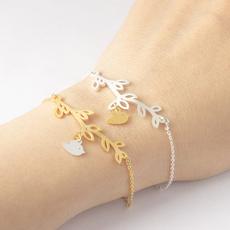 Steel, cute, leaf, Jewelry