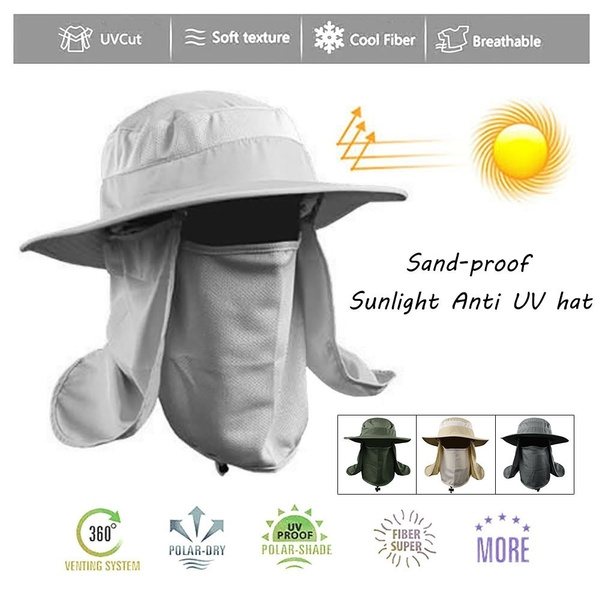 Neck Cap Wide Brim Hat Face Sport Sun Protection Hat Outdoor Flap Fishing