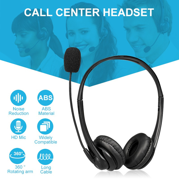 Hifi Noise Canceling Trucker Professional Usb Headset Cell Phone Headset With Microphone Office Telephone Headset Over The Head Earpiece On Ear Car Headphones For Cell Phone Computer Pc Skype Truck Driver Call Center