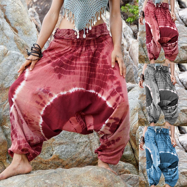 Harem Pants Tie Dye Hippie Hippy Pants Yoga Pants Loose Genie Gypsy Boho Baggy Cotton Colourful Clothing Festival Clothes Wish