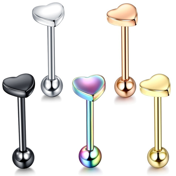 1 Pair Lot 6mm 8mm Steel Tongue Labret Piercing Septum Industrial