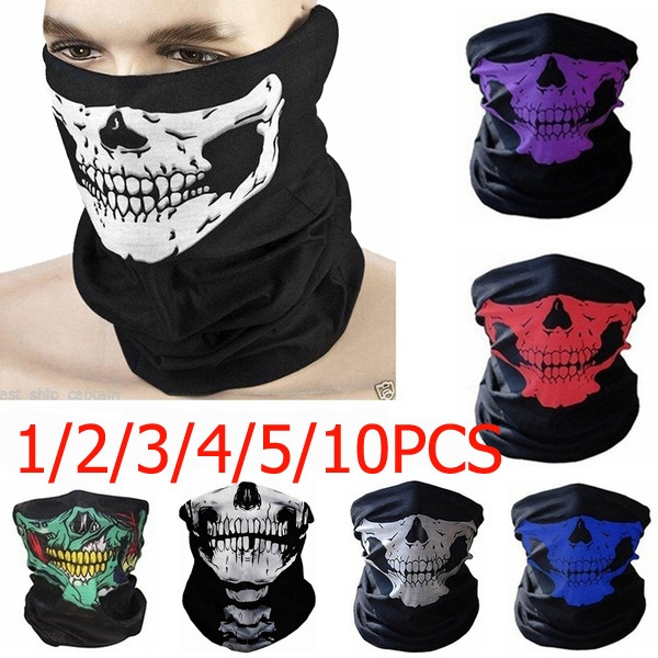 Skull Balaclava Roblox 1 2 3 4 5 10 Pcs Outdoor Skull Mask Bandana Headwear Scary Dust Proof Windproof Motorcycle Half Face Mask Skull Scarves Wish