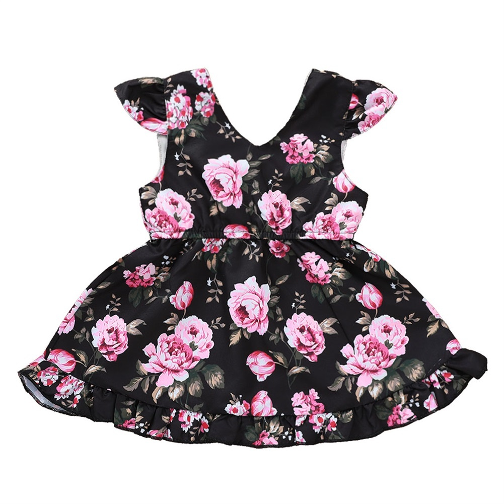 Toddler Baby Girl Floral Princess Dress Sleeveless Sundress Outfit Party Clothes
