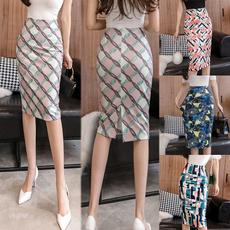 skirtforwomen, elastic waist, high waist, Elastic