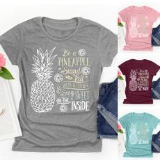 Fashion, Plus Size, Cotton T Shirt, letter print