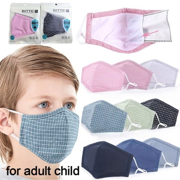 washable, Cotton, plaid, mouthmask
