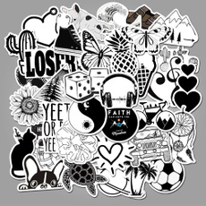 blacksticker, Black And White, Luggage, Simple
