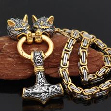 Head, necklaces for men, punk necklace, vikingnecklace