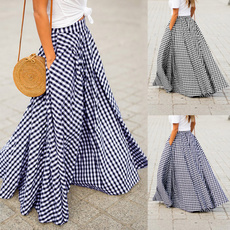 Plus Size, Pleated, long dress, Vintage