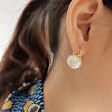 Sterling, Gifts, Pearl Earrings, Stud Earring