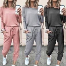 Cotton, pants, Tops, track suit