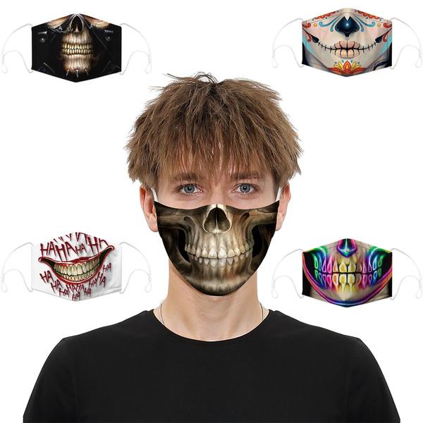 skulldigitalmask, mouthmuffle, dustrespirator, unisex
