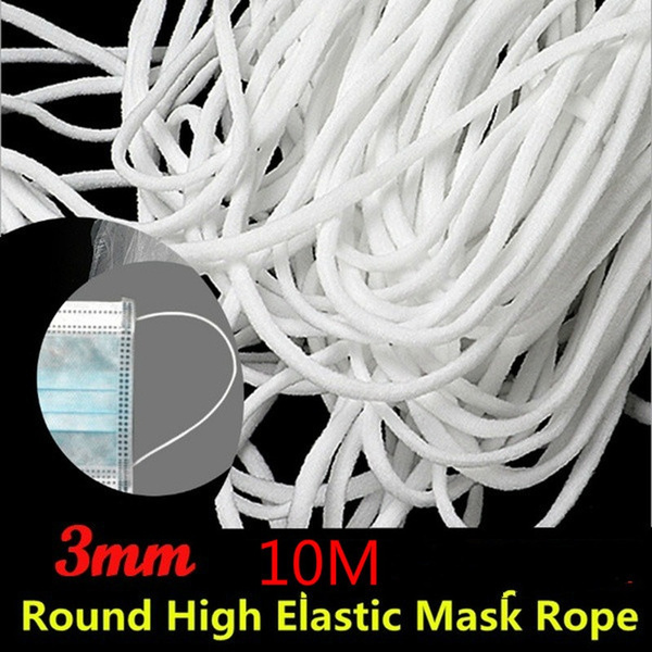 3mm Round Elastic Band Cord Ear Hanging Sewing For Face Mask 10