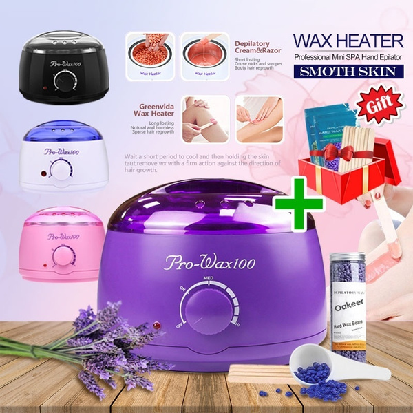 Electric Hot Wax Warmer Hair Removal Kit Wax Heater Machine Hard