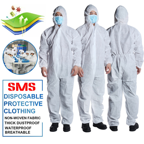 Disposable Coveralls Overalls Boilersuit Hood Painters Protective Suit Wish