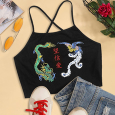 dragonprinttop, Vest, Fashion, camisole