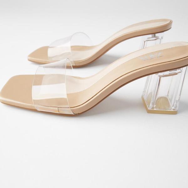 plastic heel Muller shoes