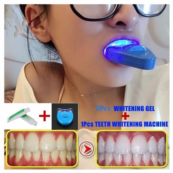 1pcs Teeth Whitening Machine 2pcs Whitening Gel Dental Teeth