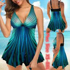 Plus Size, women beachwear, bikini set, Plus Size Swimwear