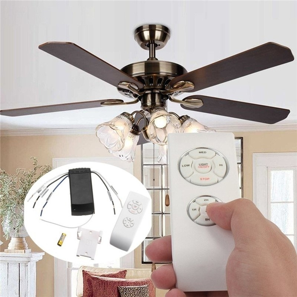Universal 110 240v Ceiling Fan Lamp Remote Controller Kit Timing Wireless Remote Home Garden Com Lamps Lighting Ceiling Fans