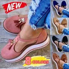 casual shoes, wedge, Tassels, Сандалии