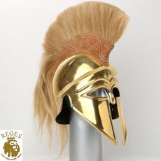 Brass, Helmet, knighthelmet, Medieval