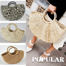 semicircle, beachbag, handknitting, Casual bag