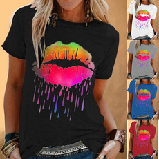 Summer, Plus Size, Colorful, Loose