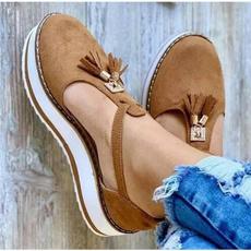 Summer, Tassels, Sandals, Platform Shoes