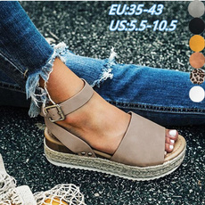 wedge, sandals for women, Sandalias, Platform Shoes
