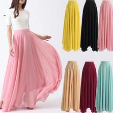Summer, long skirt, Fashion, chiffon