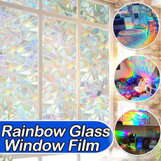 rainbow, stained, windowsticker, Home & Living