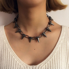 Chain Necklace, punk necklace, Jewelry, Handmade