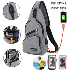 Shoulder Bags, Outdoor, Capacity, usb
