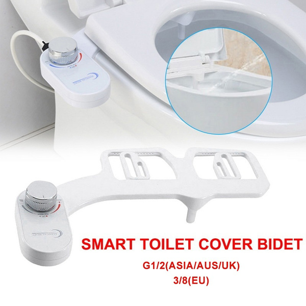 Adjustable Self Cleaning Nozzle Non Electric Water Spray Bidet Toilet Seat Wish