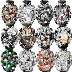 3D hoodies, myheroacademia, Cosplay, pullover hoodie