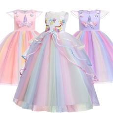 rainbow, Princess, rainbowdres, long dress