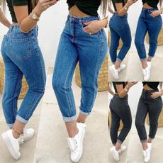 Blues, plus size jeans, Casual pants, pants