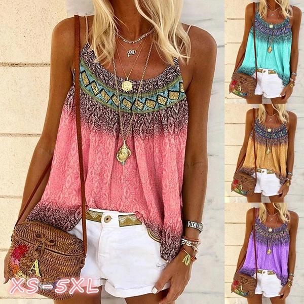 Summer, Vest, Fashion, Floral print