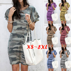 Summer, short sleeve dress, Print Dresses, Dress