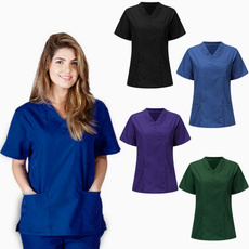 sleeve v-neck, workinguniform, Shorts, Sleeve