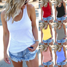 Summer, Vest, Plus Size, Tank