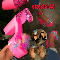 ladyshoe, woman fashion, Sandals, thickheel