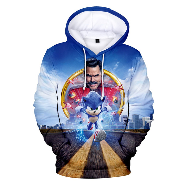 Spring 2020 New Style Sonic The Hedgehog 3d Casual Hooded Sweater Wish