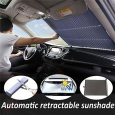 DiDaDi Car Windshield Sunshade with Cartoon Eye Panda Auto Sun Shade Foldable Sun Visor Protector Available UV Ray Reflector Shields to Keep Vehicle Cool Damage Free Protect Kids Baby Pets 59x33