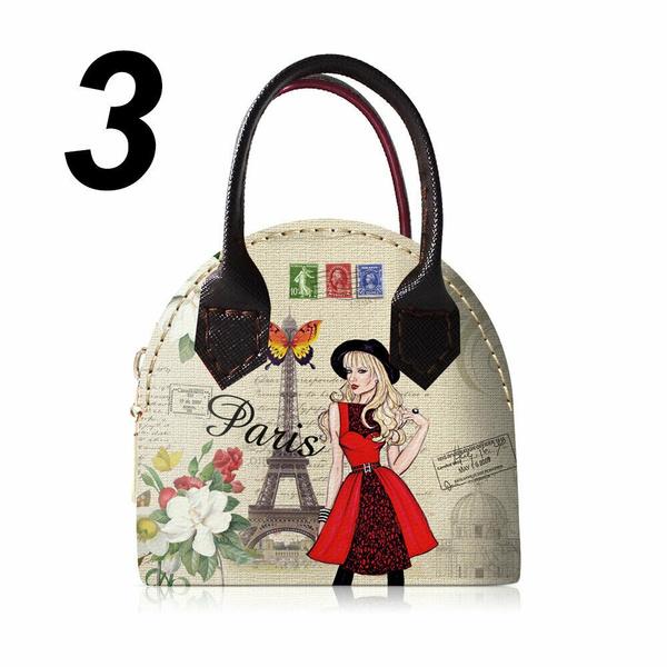 Fashion New PU Leather Women Coin Purse Wallet Bag Paris Mini Handbag Wallet Bag