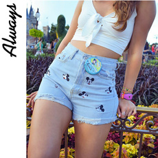 Mickey Mouse, Summer, Shorts, Waist