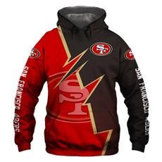 hooded, San, Coat, Football