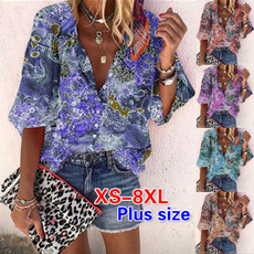 Summer, Fashion, Plus size top, short sleeves